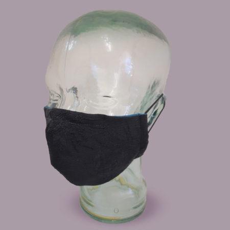 Breathe Easy Masks - Mask-Models-Black-Flower